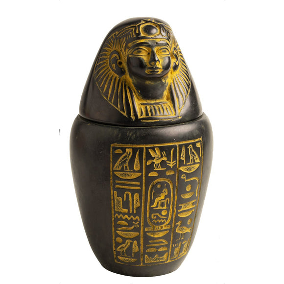 Canopic Jar Antique Gold - Imsety - 5