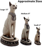 Bastet Cat Statues - Black and White