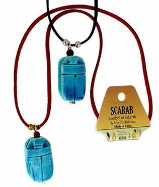 Scarab Necklace Ass't - 22