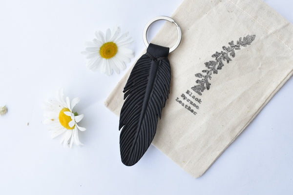 Feather Keychain Charm