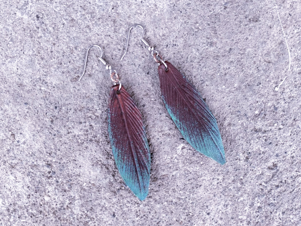 Rustic Leaf Earrings
