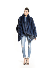 Blue Fox Jacket - Elena Benarroch - Fur - TOPGEARNY