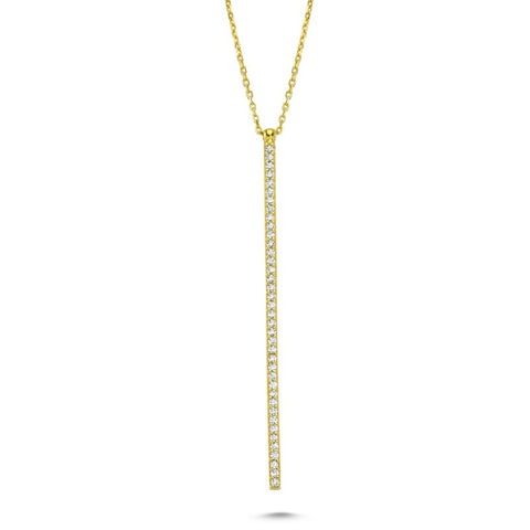 Line Necklace in Gold - Amorium - Necklace - TOPGEARNY