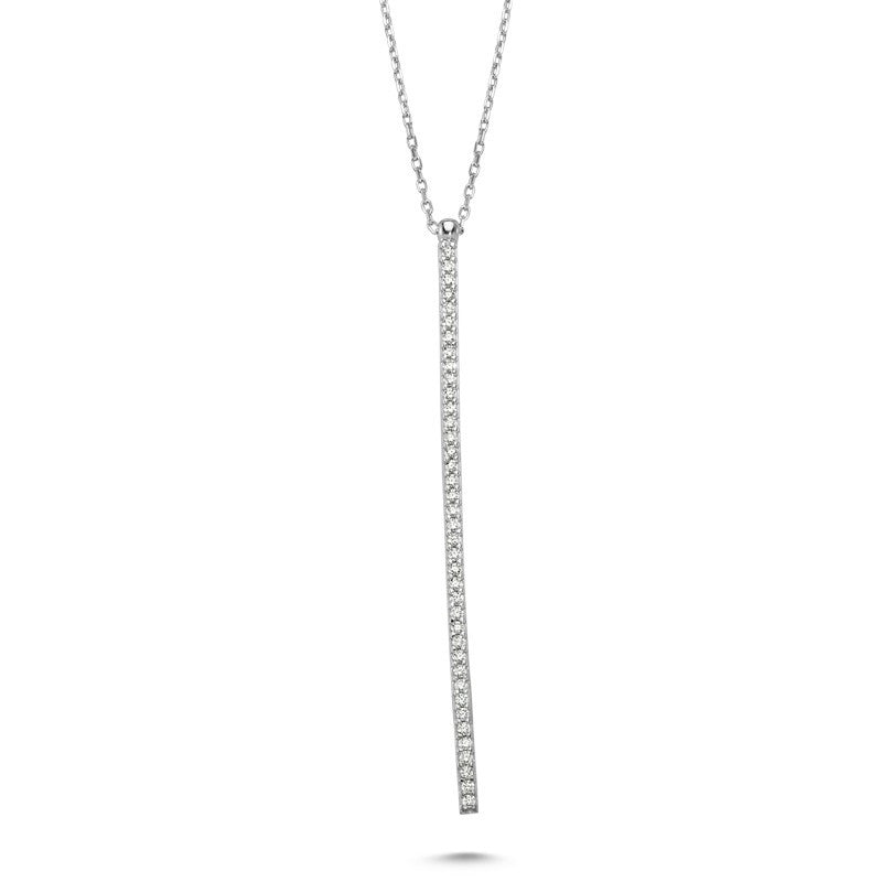 Line Necklace in Silver - Amorium - Necklace - TOPGEARNY