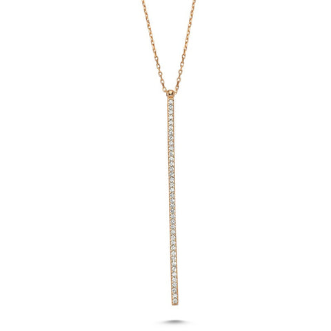 Line Necklace in Rose Gold - Amorium - Necklace - TOPGEARNY