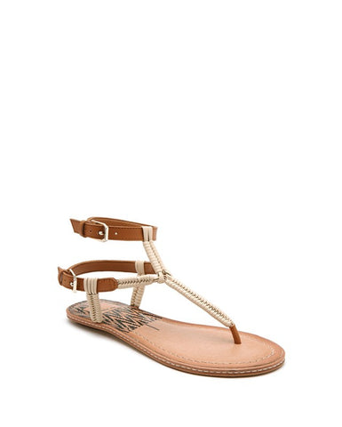 KENDRA Leather Buckle Strap Sandal