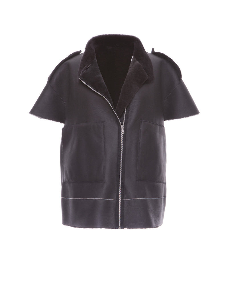Too Cool Detachable Sleeve Shirling Jacket - Elena Benarroch - Jacket - TOPGEARNY