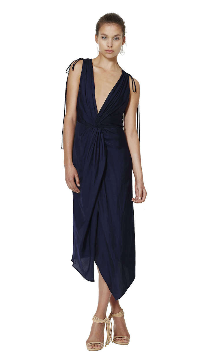 Blue Haze Plunge Dress - Bec & Bridge - Dress - TOPGEARNY