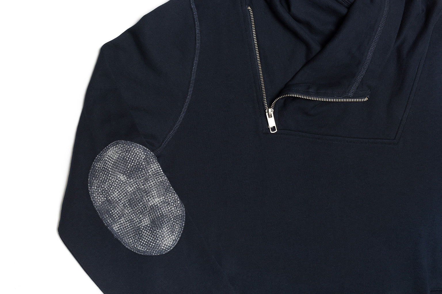 Hooded Pullover with Printed Patches - Antony Morato - Fleece - TOPGEARNY
