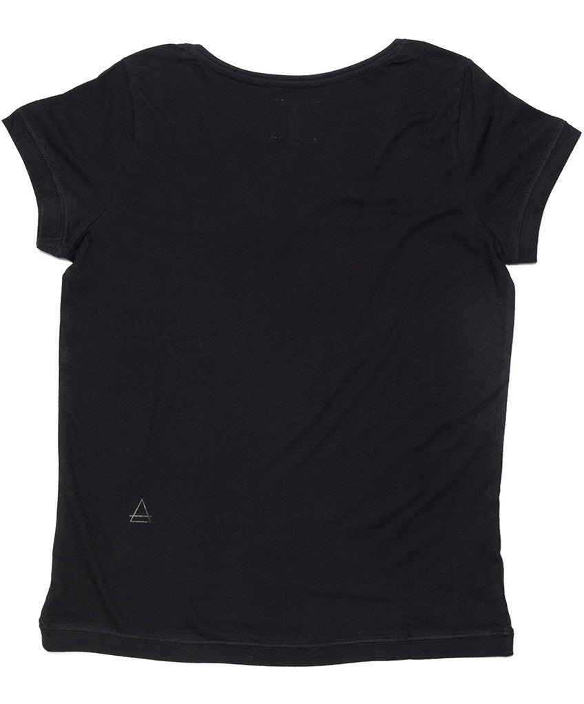 Farl W Scoop Neck Cap Sleeve T-Shirt - Eleven Paris - T-Shirt - TOPGEARNY