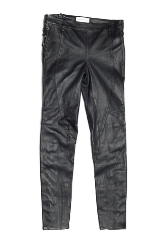 Leather Laced Running Slim Pants