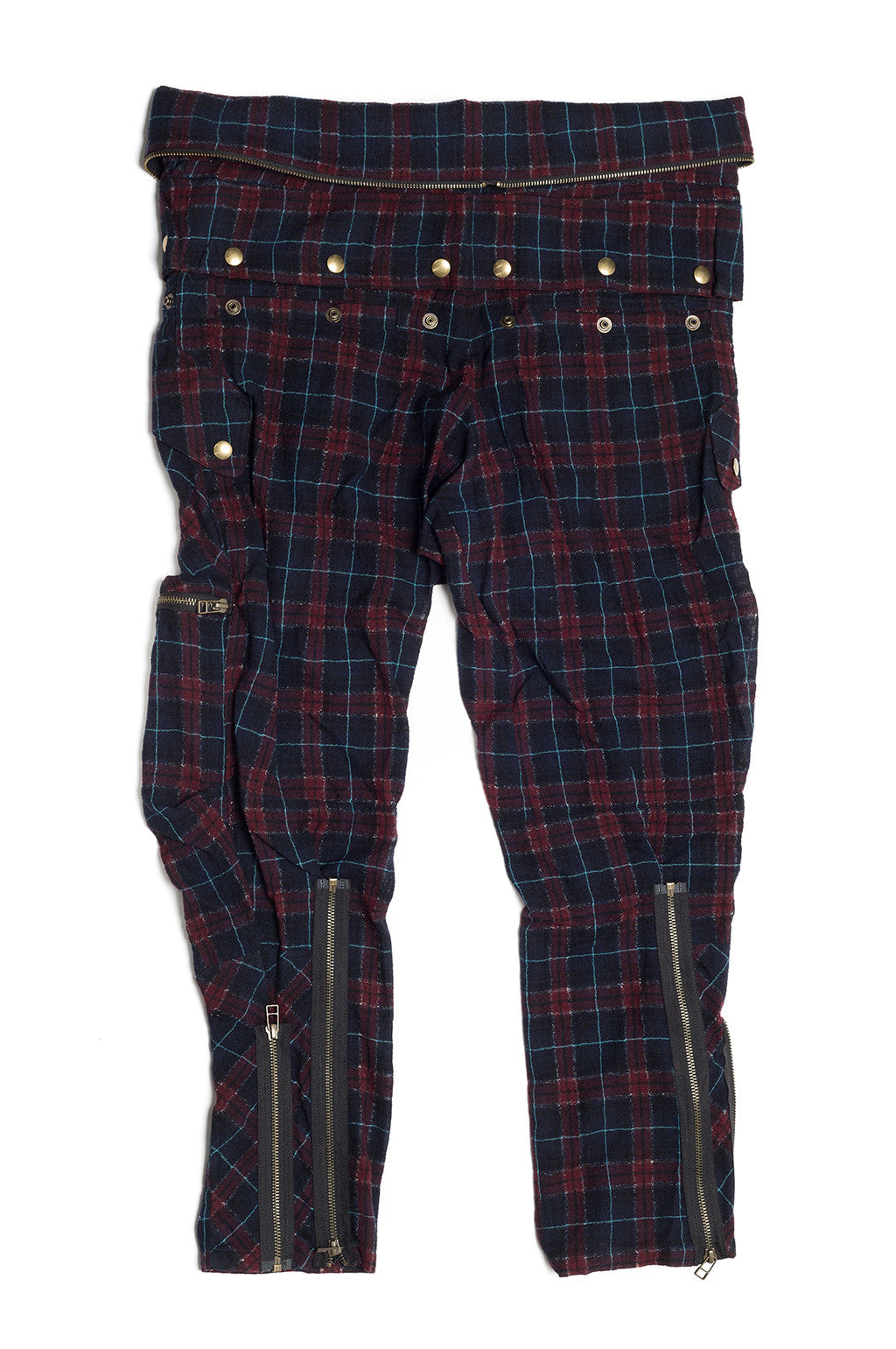 Tartan Wool Gauze Multi Pocket Pants - Faith Connexion - Pants - TOPGEARNY