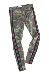 Army Khaki Camo Red Leggings