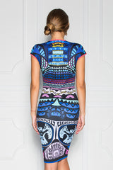 Helen Printed Cap Sleeve Fitted Dress - Sugarbird - Dress - TOPGEARNY