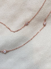 "41"" Chain Diamond by Yard 14K Rose Gold Vermeil - Charlene K - Necklace - TOPGEARNY"