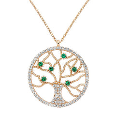 Tree of Life Necklace in Rose Gold - Amorium - Necklace - TOPGEARNY