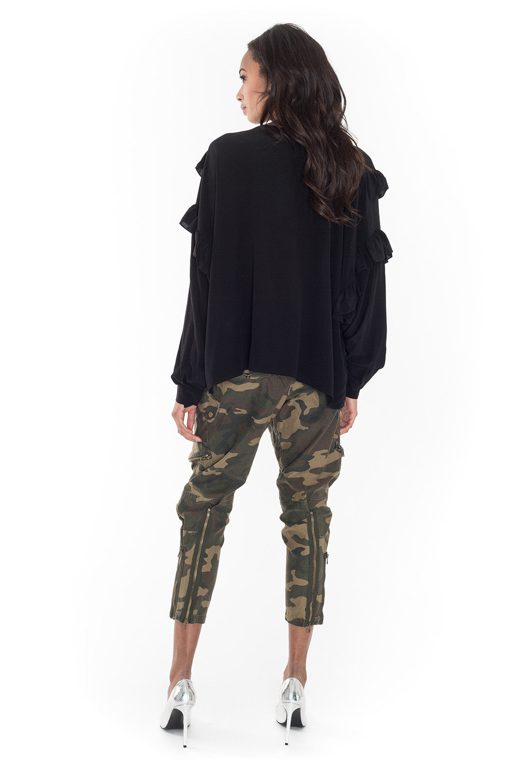 Camouflage Cargo Cropped Pants - Faith Connexion - Bottoms - TOPGEARNY