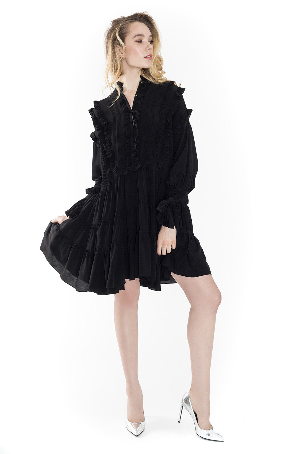 Rustle Silk Dress - Faith Connexion - Dress - TOPGEARNY