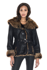 Toscana Sheepskin Hoody Jacket - Dudex - Jacket - TOPGEARNY