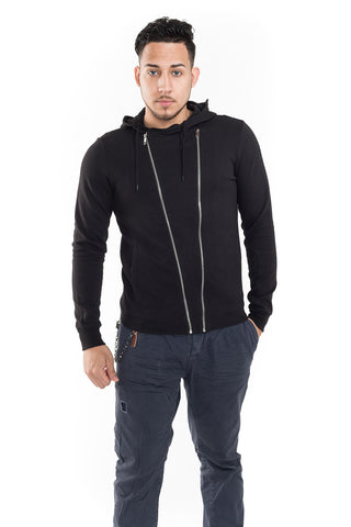 Hoodie with Double Front Zip