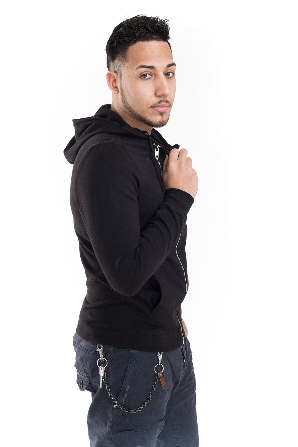 Hoodie with Double Front Zip - Antony Morato - Jacket - TOPGEARNY