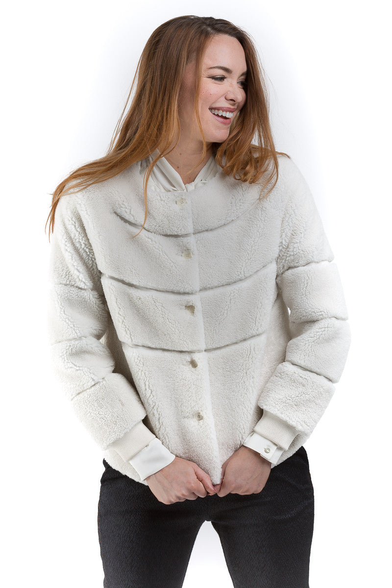 Shearling Sport Jacket - Paul and Joe - Jacket - TOPGEARNY