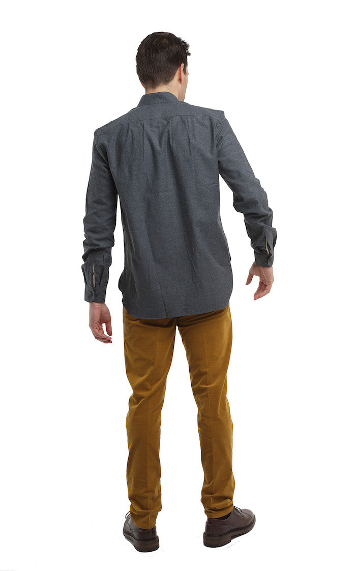 Band Collar Shirt - Brett Johnson - Shirt - TOPGEARNY