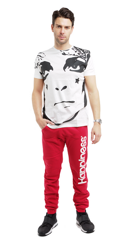 Short Sleeve Face Print  M T-Shirt