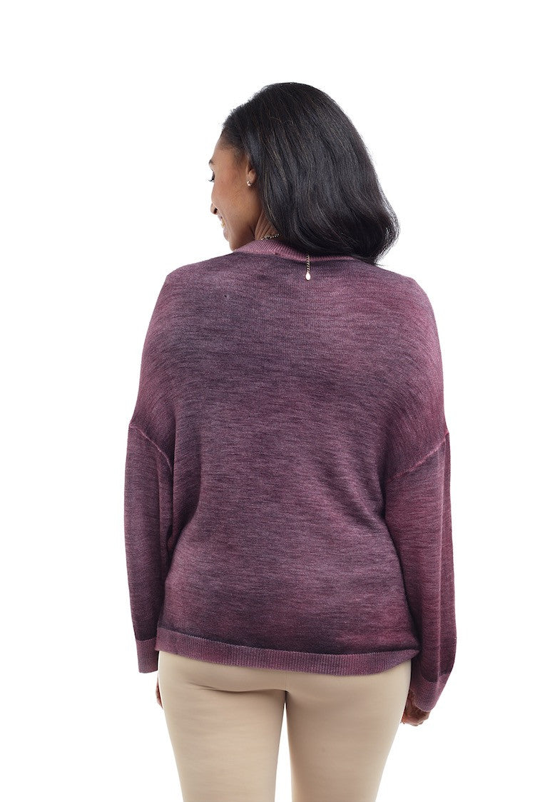 Round Neck Sweater w/Stud Application - Nude - Sweater - TOPGEARNY