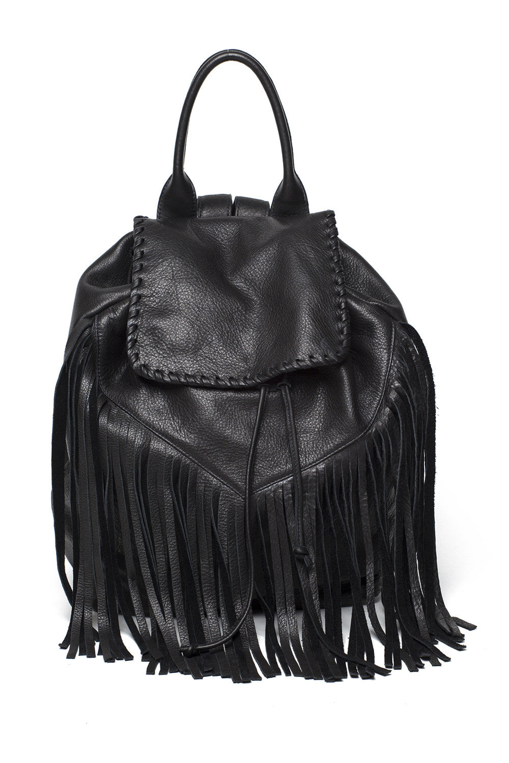Noel Fringe Backpack - Black - Laggo - Bag - TOPGEARNY