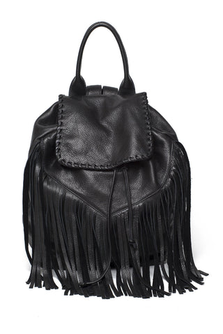 Noel Fringe Backpack - Black
