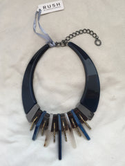 Blue/Tortoise Band Necklace - Rush - Necklace - TOPGEARNY