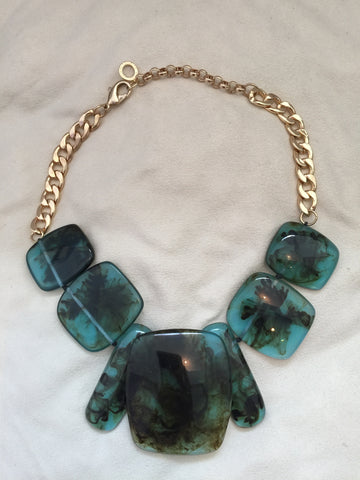 Green SQ Resen Necklace - Rush - Necklace - TOPGEARNY