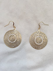 Crystal Decorated pop-up golden earrings - Rush - Earrings - TOPGEARNY