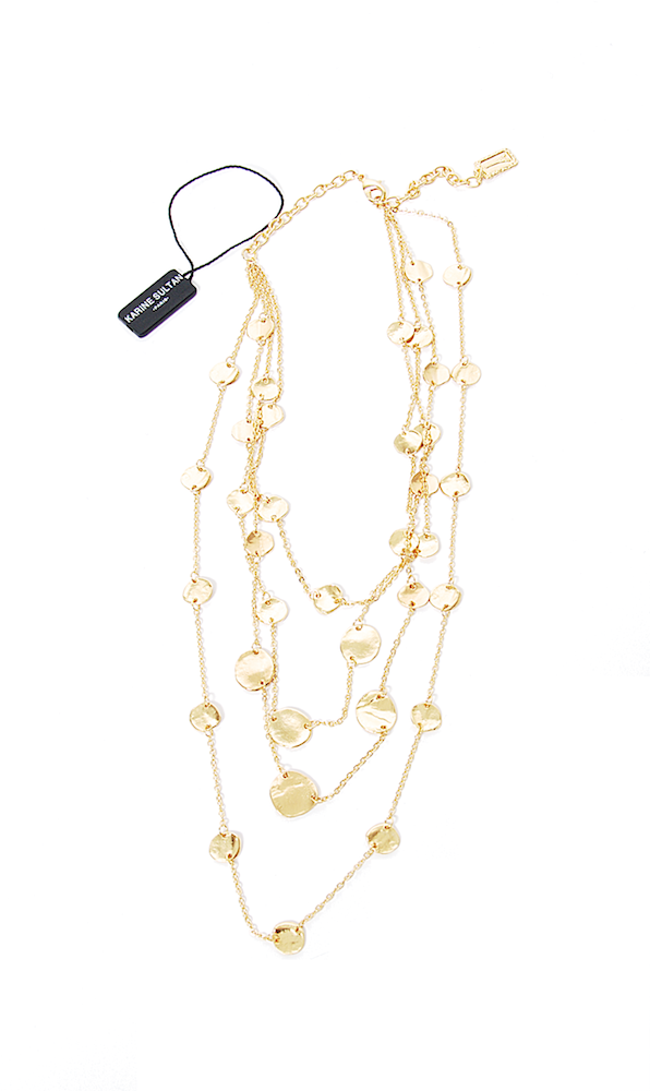 Mary Layered Necklace - Karine Sultan - Necklace - TOPGEARNY