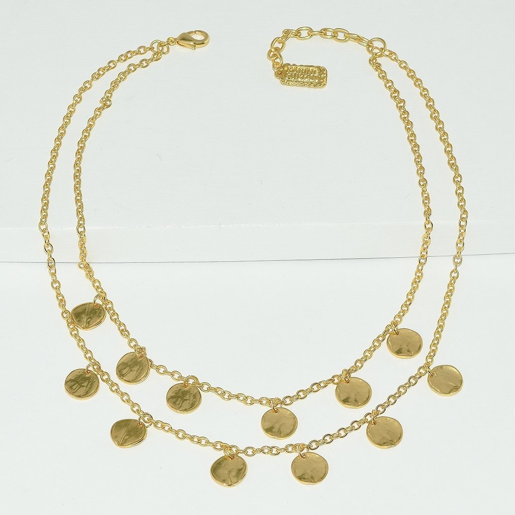 Coin Charm Pre Layered Necklace