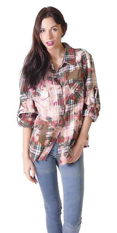 Red Multi - Nu Vintage - Shirt - TOPGEARNY