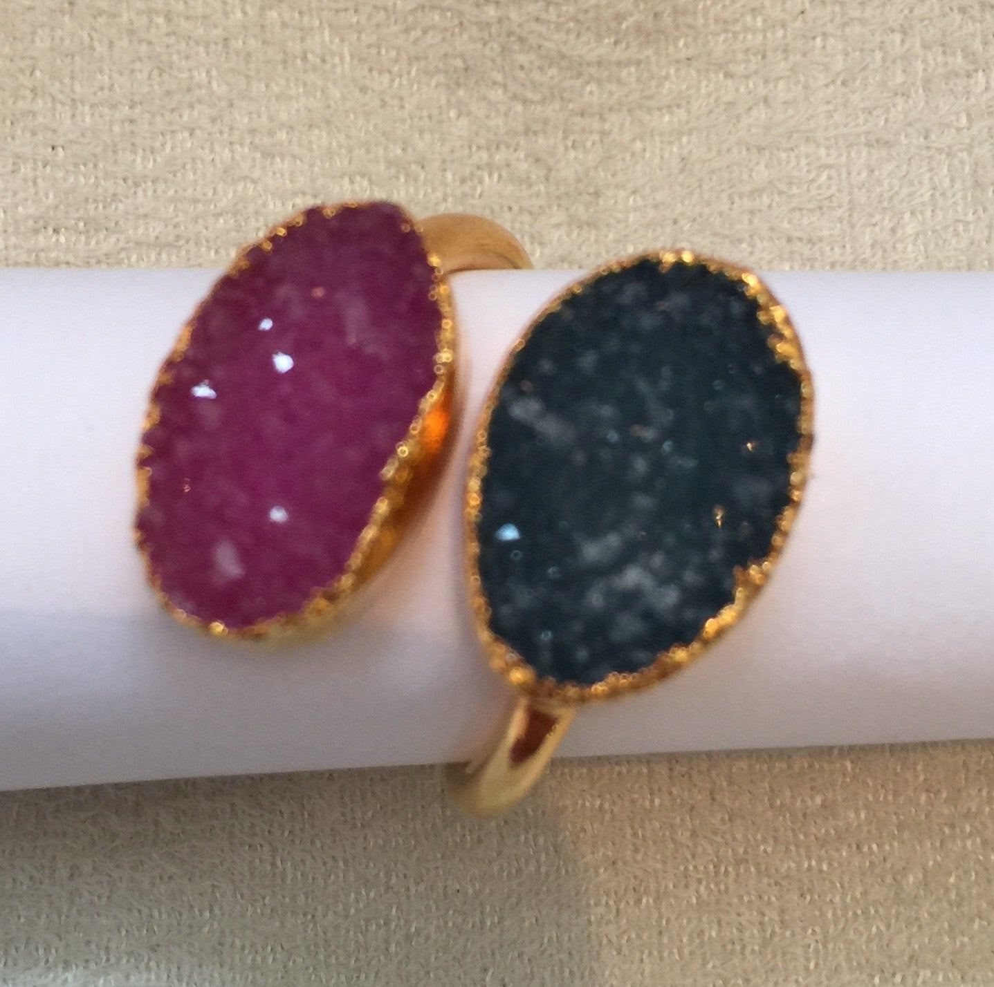 Double Druzy Ring - Charlene K - Ring - TOPGEARNY