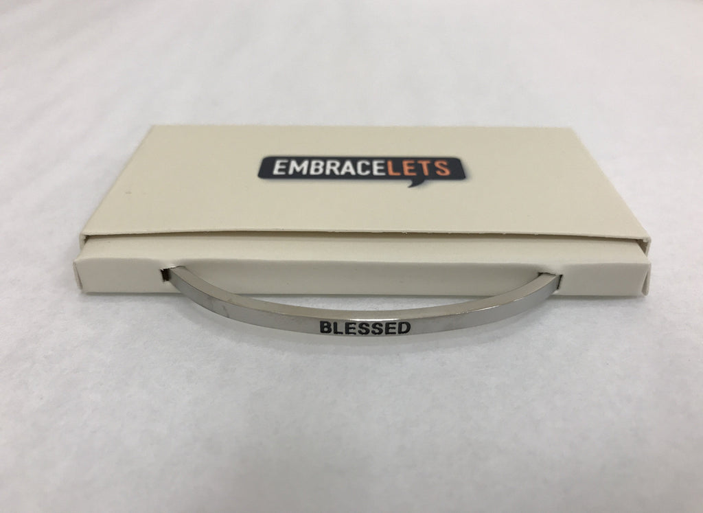 "Embracelets - ""Blessed"" Silver - Accessories Boutique"