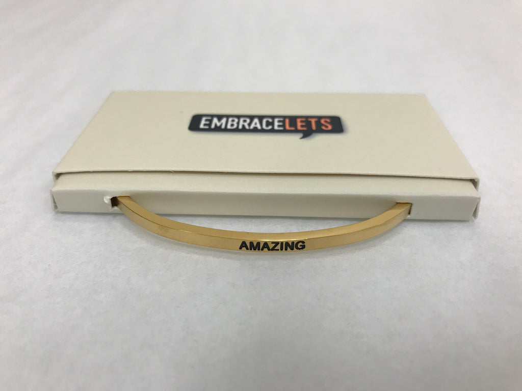 "Embracelets - ""Amazing"" Gold - Accessories Boutique"