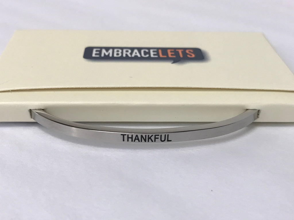 "Embracelets - ""Thankful"" Silver"
