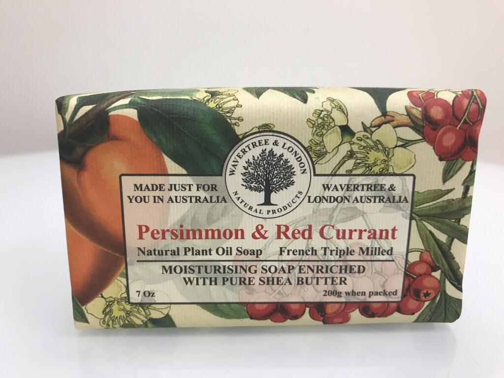 AUSTRALIAN SOAPWORKS WAVERTREE & LONDON VEGAN PERSIMMON & RED CURRANT SOAP