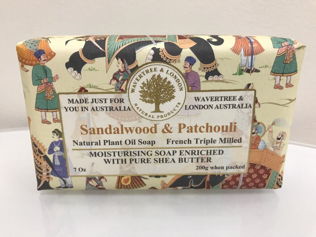 Australian Soapworks Wavertree & London Vegan Sandalwood & Patchouli Soap