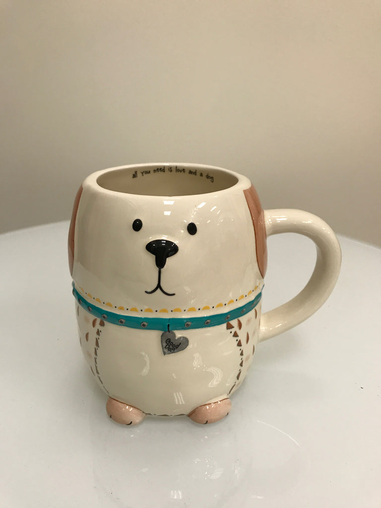 "Natural Life Mug - Dog ""All You Need is Love and a Dog"" - Accessories Boutique"