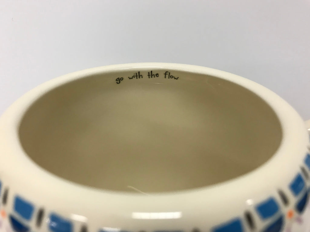 "Natural Life Mug - Whale ""Go With The Flow"" - Accessories Boutique"