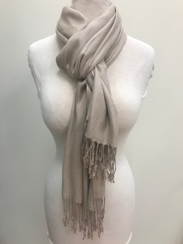Pashmina Scarf Shawl - Taupe - Accessories Boutique