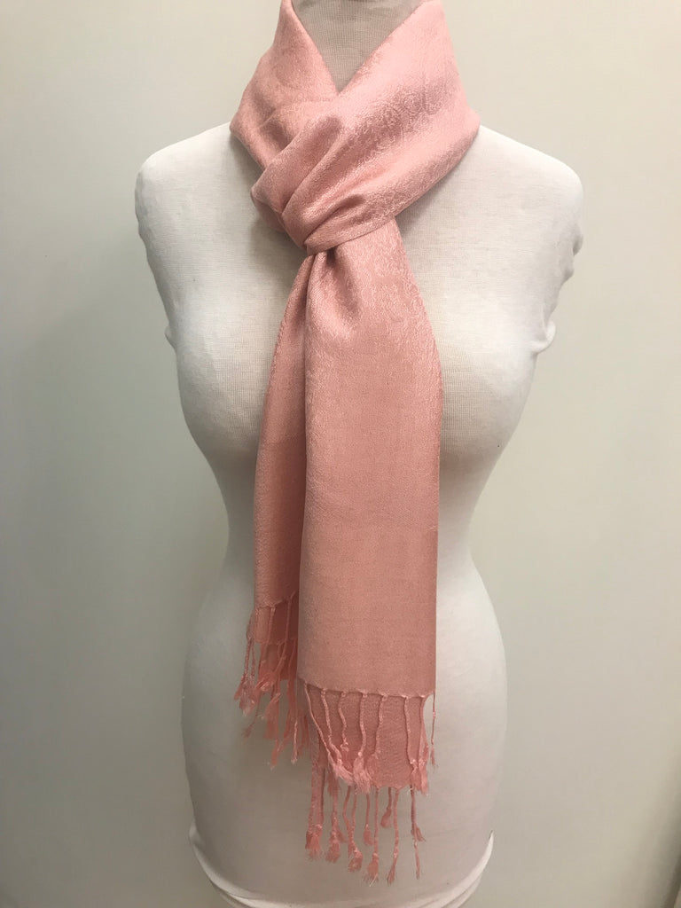 Pashmina Scarf Shawl - Pink Patterned - Accessories Boutique