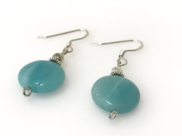 Handmade Amazonite Gemstone Silver Earring