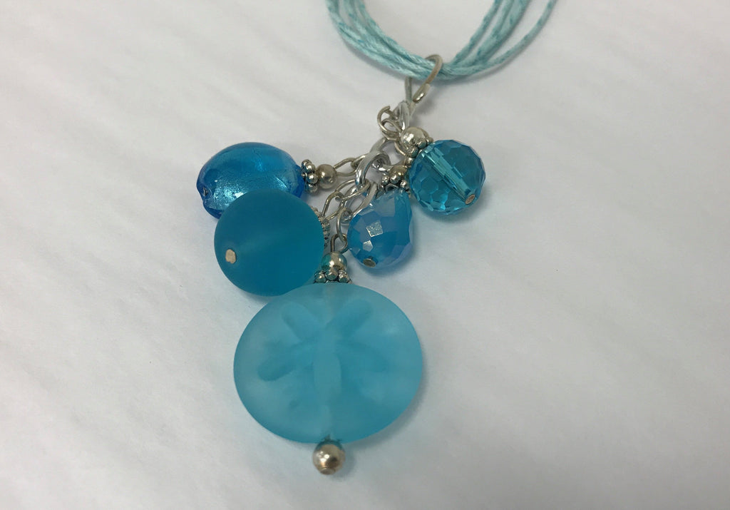 Cluster - Handmade Light Blue Sea Glass Necklace - Accessories Boutique