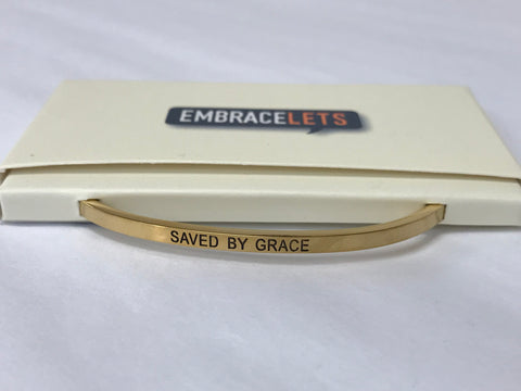 "Embracelets - ""Following My Dreams"" Gold Stainless Stackable Layered Bracelet"